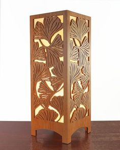 Arts & Crafts Ginkgo Leaf Lightbox Accent Lamp - I think I love everything from this site.