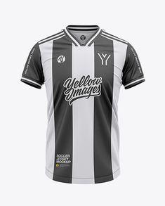 9169d2b0222 Men s Soccer V-Neck Jersey Mockup – Front View. Apparel ClothingFootball  JerseysCreative ...