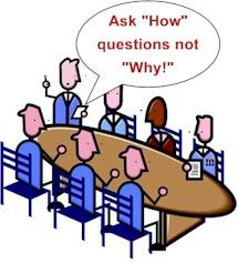 """Get more out of your discussions by asking """"how"""" instead of """"why"""" #CommunicatingEffectively #CriticalThinking #Collaboration"""
