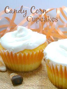 Super Fun Candy Corn Cupcakes!