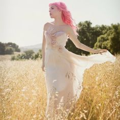 I think this is the most beautiful wedding dress I've ever laid eyes on! Bohemian Blush Wedding Gown It Must Have Been the by clairelafaye, $1800.00
