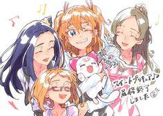 Pretty Cure, Black Splash, Magical Girl, Shoujo, Cute Art, My Idol, Manga, Anime Art, The Cure