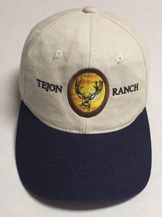 20671f4f6 Tejon Ranch Hat Baseball Cap Deer Lebec California CA Hunt Crop Cattle Farm  Ag