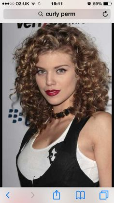 I want a curly perm so bad