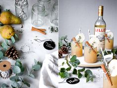 Lillet Winter Thyme For 1 drink: 5 cl Lillet Blanc 5 cl pear juice 5 cl Tonic Water 2 cl cinnamon sy Tonic Water, Gin And Tonic, Winter Cocktails, Christmas Wine, Christmas Drinks, Lillet Berry, Rumchata Recipes, Sour Cocktail, Cocktail Drinks