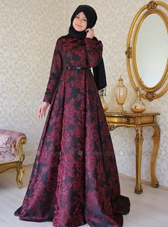 Eva Evening Dress - Maroon - ULVIYE PORTAKAL