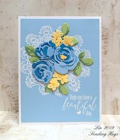 Sending Hugs: Simon Says.For a Special Lady Scrapbooking, Scrapbook Cards, Altenew Cards, 3d Rose, Sending Hugs, Pink Cards, Die Cut Cards, Get Well Cards, Simon Says