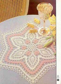 Crochet Knitting Handicraft: Doily