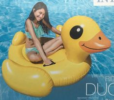 POOL TOY. RIDE ON DUCK. INTEX Float New In Box  - Ideas of Pool Float #PoolFloat