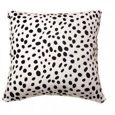Furbish - Black and White Spotted Pillow - probably should just go ahead and buy!!