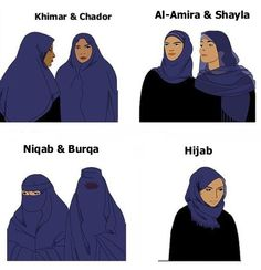 Types of Headscarves in the Muslim culture