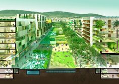 """Rambles Verdes"" - 1st-prize entry for Europan 12 Spain, Barcelona 