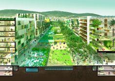"""Rambles Verdes"" - 1st-prize entry for Europan 12 Spain, Barcelona | Co-authored by Eduard Balcells, Honorata Grzesikowska, Balbina Mateo, Valentin Kokudev, Andrés Lupiáñez, Marcos Ruiz de Clavijo | Bustler"