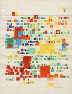 Catalina Viejo – Letter to Hans Hoffman; Carta para Hans Hoffman    Collage: 10 3/4 x 8 1/4 inches/pulgadas, 2008