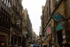 Kalverstraat is the most famous and busiest shopping street in Amsterdam