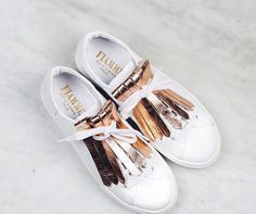Fiamme Sneakers with DIY Frilles - Get your frilles by contact hello (Diy Ropa White Sneakers, Shoes Sneakers, Shoes Heels, Buy Shoes, Me Too Shoes, Happy Shoes, Baskets, Mode Shoes, Mode Outfits