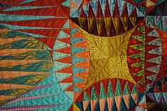 Detail from Indian Orange Peel   Someday I will make one of these quilts!