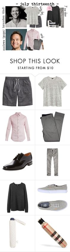 """""""7/13 - rainy work day // h-l"""" by our-poly-lives ❤ liked on Polyvore featuring Giorgio Armani, Lords of Harlech, Loake, Abercrombie & Fitch, A.P.C., Vans, MANGO, Burberry, men's fashion and menswear"""