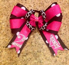 Boutique OTT Hair Bow MTM Sports Teams or School Colors with Numbers on Etsy, $14.00