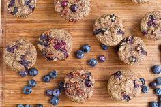 mini whole wheat blueberry breakfast muffins w/ cinnamon streusel & blueberry muffin overnight oats