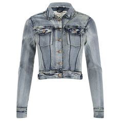 Brave Soul Women's Mariah Denim Jacket - Denim ($17) ❤ liked on Polyvore featuring outerwear, jackets, blue, jean jacket, long sleeve jacket, denim jacket, blue jackets and brave soul jacket