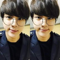 Jin is too goddamn cute. I had to post this. I wanna squish him. #Jin #BTS