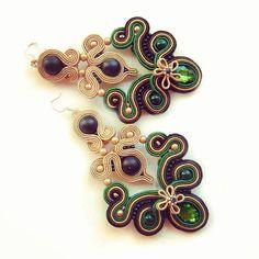 Soutache Necklace, Tassel Earrings, Ring Earrings, Boho Jewelry, Beaded Jewelry, Jewelry Accessories, Fashion Jewelry, Soutache Pattern, Button Crafts