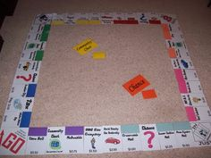 Oooh, gives me an idea for management: Here I made a life-sized Monopoly game board that has places on it that are relevant to our hometown area. Groups of students earn tally marks for positive behavior. Tally marks earn them rolls to play the game. Teaching Activities, Therapy Activities, Classroom Activities, Classroom Organization, Classroom Themes, Teaching Ideas, Behavior Calendar, School Calendar, Monopoly Classroom