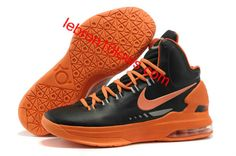 Black and Team Orange Nike Zoom KD 5 554988 100 Kevin Durant Basktball Shoes ed1b290f7