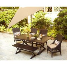 Hampton Bay Woodbury Patio Bench With Textured Sand Cushion DY9127 BENCH At  The Home