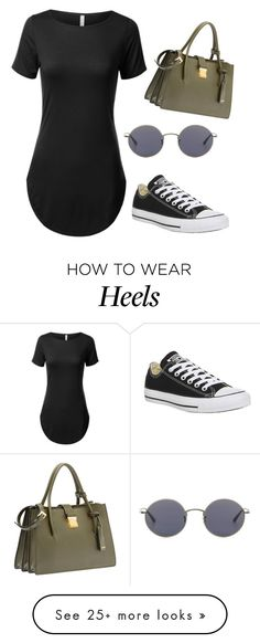 """""""what are high heels?"""" by sammillerlucas on Polyvore featuring Miu Miu, Oliver Peoples, Converse and sammillerlucas"""