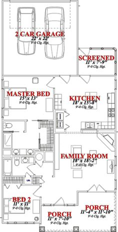 Craftsman Style House Plan - 2 Beds 2 Baths 1337 Sq/Ft Plan #63-247 Main Floor Plan - Houseplans.com