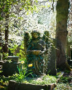 highgate edited-6984 by Carmen Veronica Abasolo, via Flickr Cemetery Statues, Angel Statues, Cemetery Art, Cemetery Angels, Cemetery Headstones, Angeles Custodios, Old Cemeteries, Graveyards, Guardian Angels