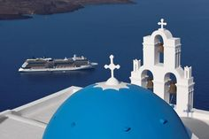 Santorini, Greece. Picture courtesy of Celebrity Cruises. #AAATravel