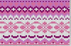 This is a pattern for a knit sweater - maybe this could be repurposed into a peyote/bead weaving pattern? Or if I simplified it, and used extruded squares of polymer clay, could I turn this into a cane? Probably too crazy to actually work Tapestry Crochet Patterns, Fair Isle Knitting Patterns, Knitting Charts, Weaving Patterns, Knitting Stitches, Knitting Designs, Motif Fair Isle, Fair Isle Chart, Fair Isle Pattern