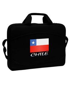 """Chile Flag 15"""" Dark Laptop / Tablet Case Bag"""
