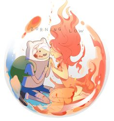 Adventure time Finn and Flame Princess (I miss these days ;-;)