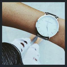 Larsson & Jennings Classic Watch in Silver. Larsson & Jennings, Luxury Watches, Summer Looks, Daniel Wellington, Looks Great, Fashion Accessories, Feminine, Unisex, Classic