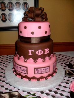 Sorority Initiation Celebration Cake -- thats one heck of an intitiation cake!  Makes our sheet cake look pitiful!