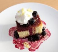 Try this classic recipe for Olive Oil Cake with flavours of lemon and a blueberry sauce Blueberry Sauce, Blueberry Recipes, Olive Oil Cake, How Sweet Eats, Cheesecake, Cupcakes, Yummy Food, Baking, Breakfast