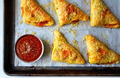Skip the slice in favor of quick and easy pizza pockets filled with chicken, cheese and your choice of veggies.