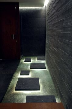 Bayerischer Hof / Munich / spa / luxury  2005. Shower idea? Floating piece of stone to hide a drain.
