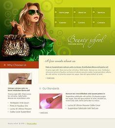 Beauty School Website Templates by Delta