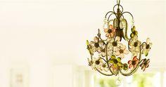 chandelier #chandelier #flowers