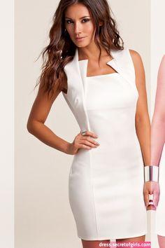 short and elegant white evening dresses Casual Dresses, Short Dresses, Fashion Dresses, Gown Suit, Mode Chic, Lovely Dresses, Designer Dresses, Ideias Fashion, Evening Dresses