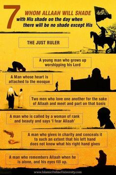7 Whom Allah Will Shade with His Shade on the day when there will be shade except HIS