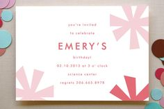 Sparkle Fte Children's Birthday Party Invitations by Marabou Design at minted.com