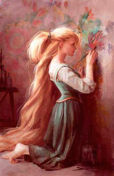Rapunzel.This makes me relate to the character even more... A little less hair and that could be my childhood.