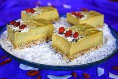 Raw Mango Lime Cheesecake Bars
