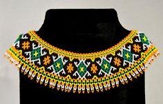 Perle collier Bijoux Collier de perles Folk par NakaHandMadeShop